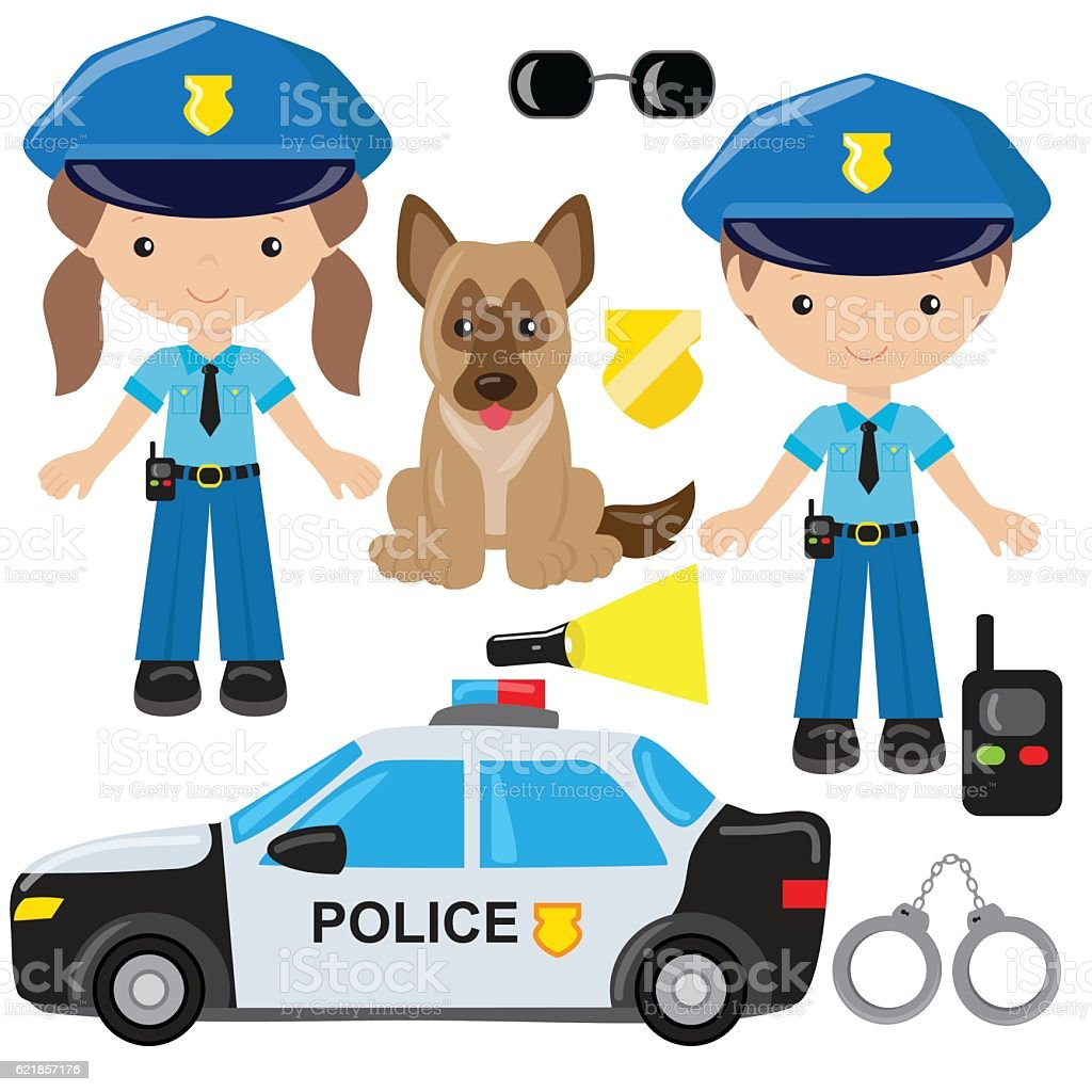 Police officer vector illustration vector art illustration