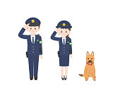 It is an illustration of a Police officer.