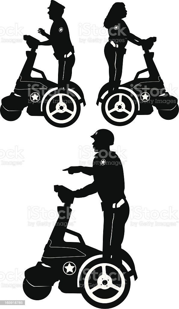 Police Officers on Segway royalty-free police officers on segway stock vector art & more images of authority