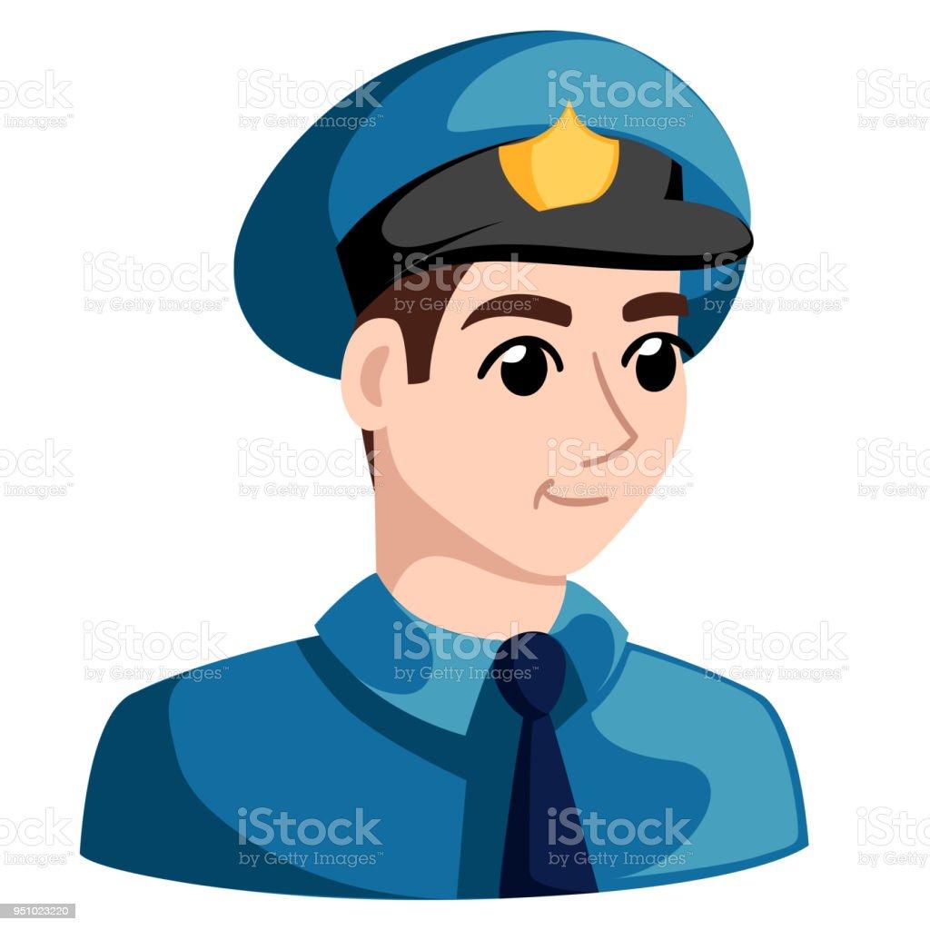 Agents De Police Policier Personnage De Dessin Anime Vector Illustration Isole Sur Fond Vecteurs Libres De Droits Et Plus D Images Vectorielles De Adulte Istock