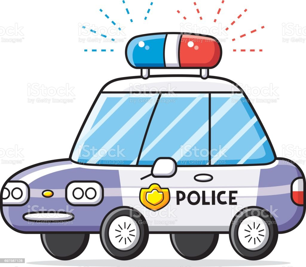 Police patrol car lights vector isolated. vector art illustration