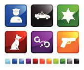 Police Protection royalty free vector icon set