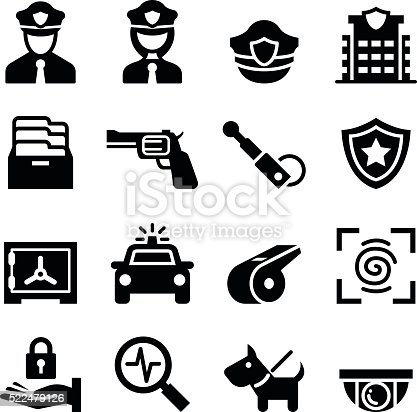 Police Security Guard Icon Stock Vector Art & More Images