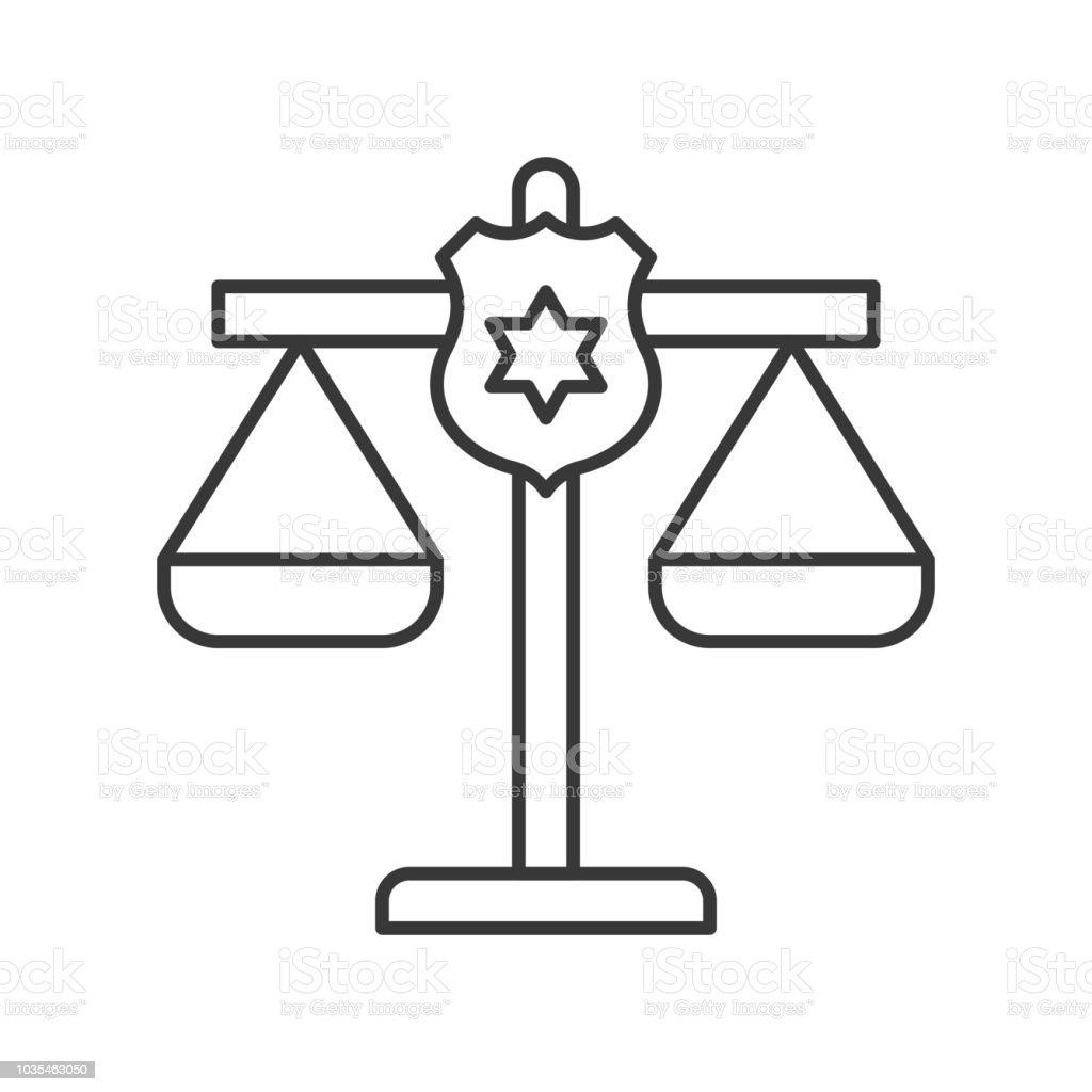 https www istockphoto com tr vekt c3 b6r polis kalkan c3 b6l c3 a7ekte adalet hukuk ilgili simge d c3 bczenlenebilir kontur gm1035463050 277203719