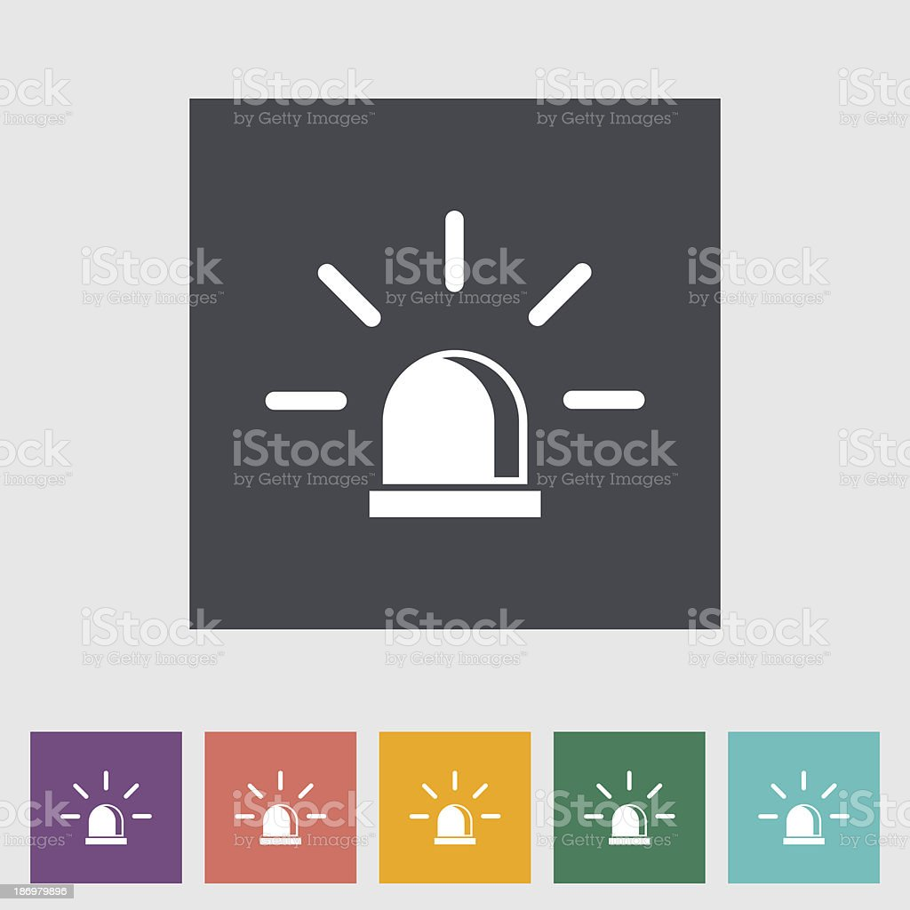 Police single flat icon. vector art illustration