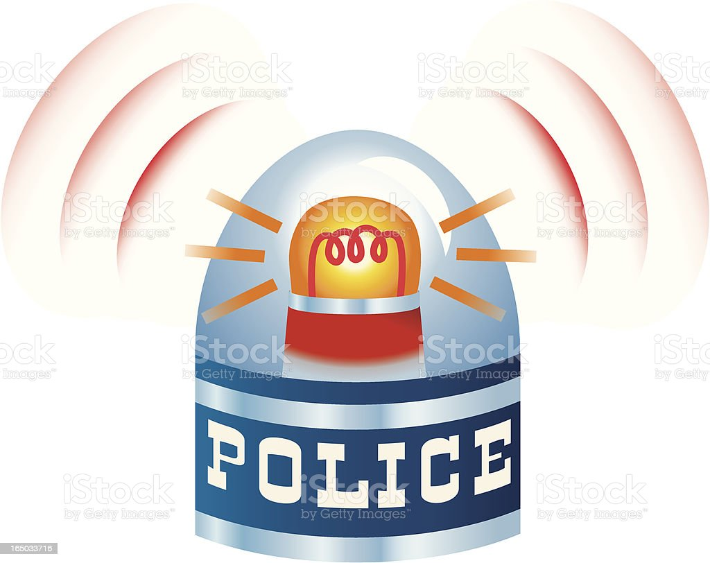 Police Siren royalty-free stock vector art
