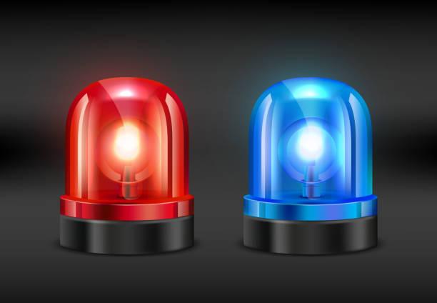 bildbanksillustrationer, clip art samt tecknat material och ikoner med police siren. vector realistiska bilder av brand eller polis siren - fire alarm