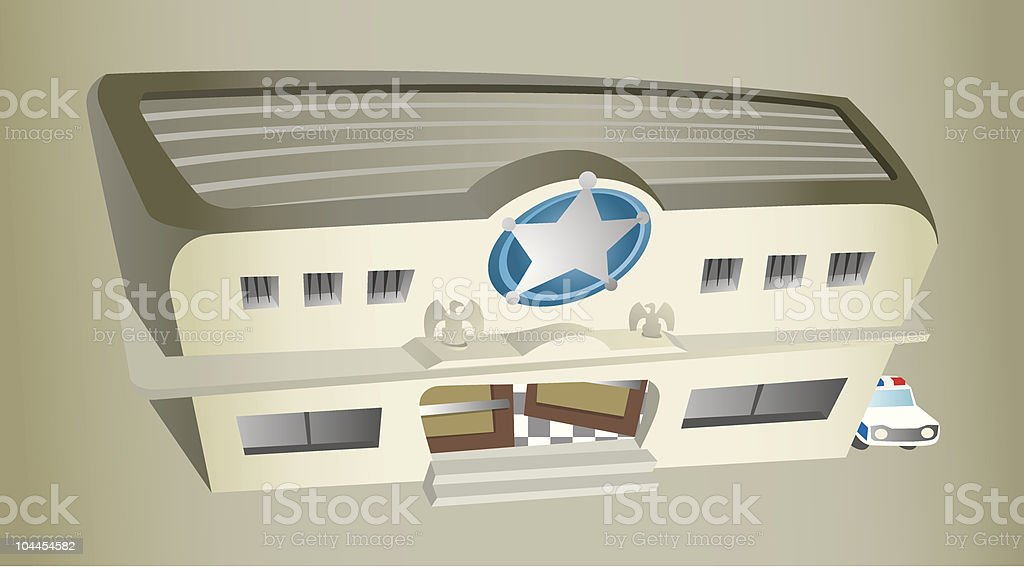 Police station royalty-free stock vector art