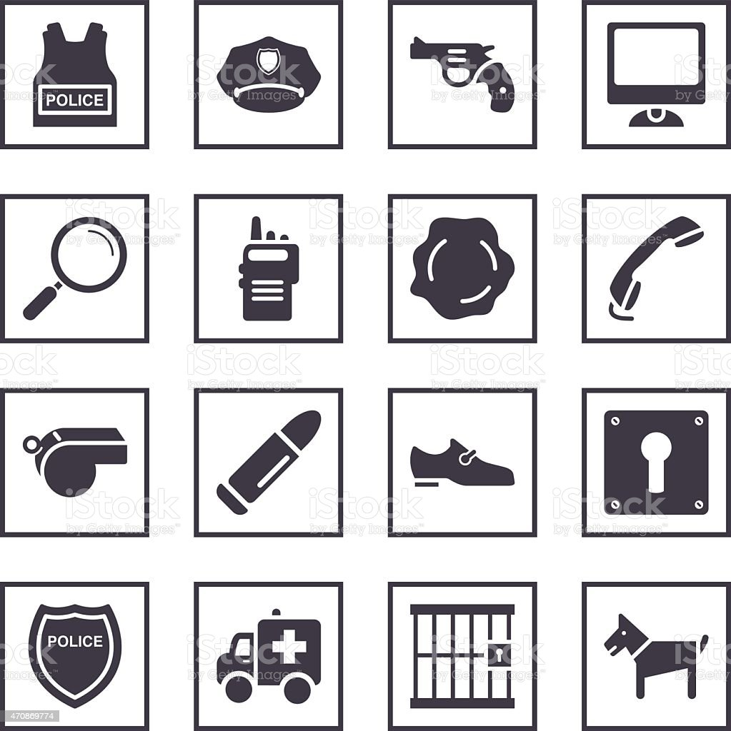 Police Symbols Stock Vector Art More Images Of 2015 470869774 Istock