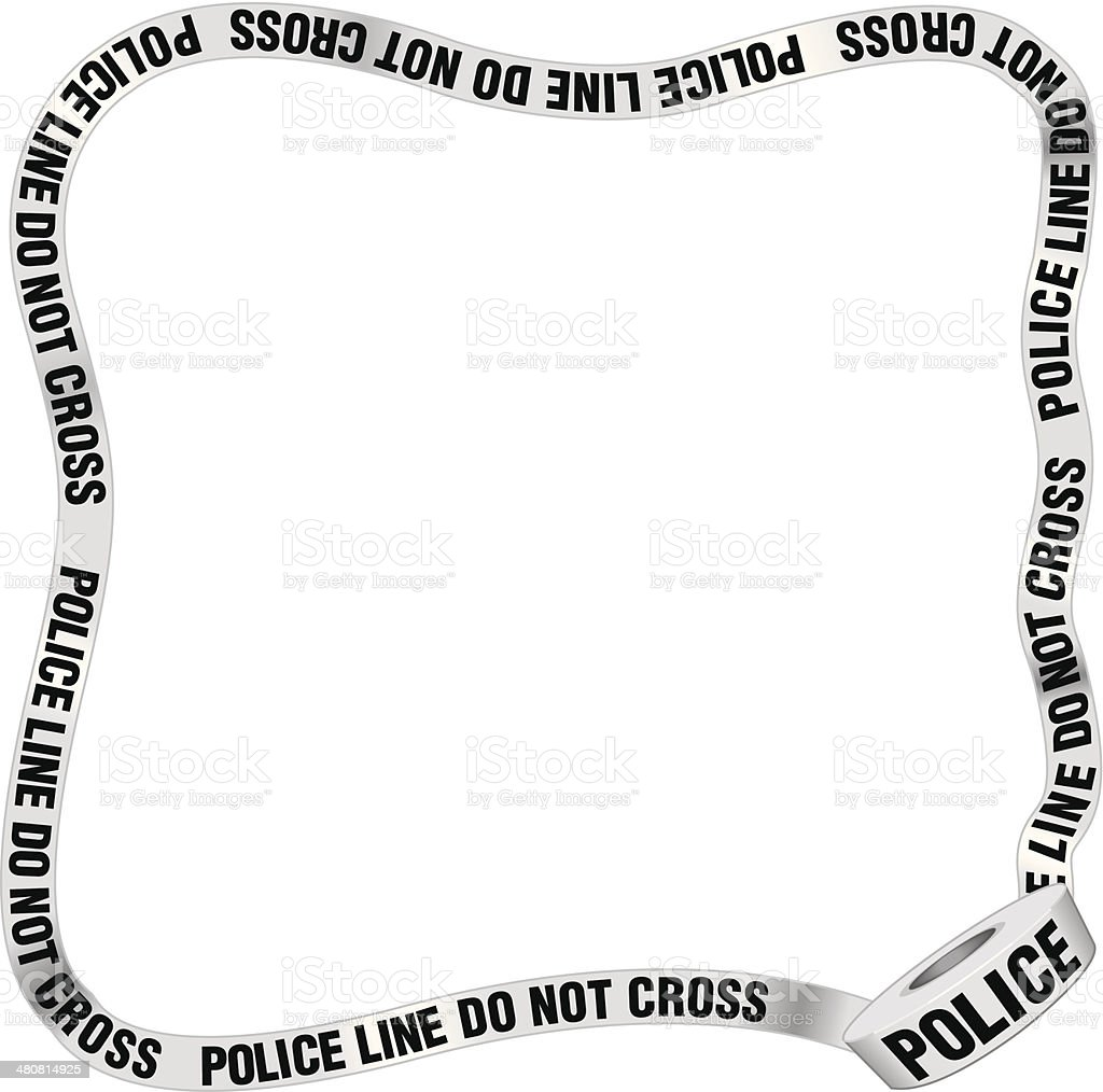 Police Tape Frame Stock Vector Art & More Images of Copy Space ...