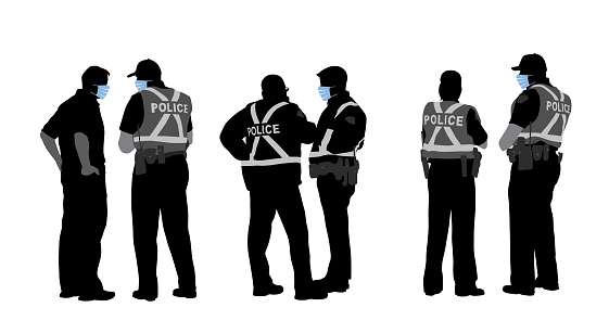 Police Teams Wearing Medical Masks