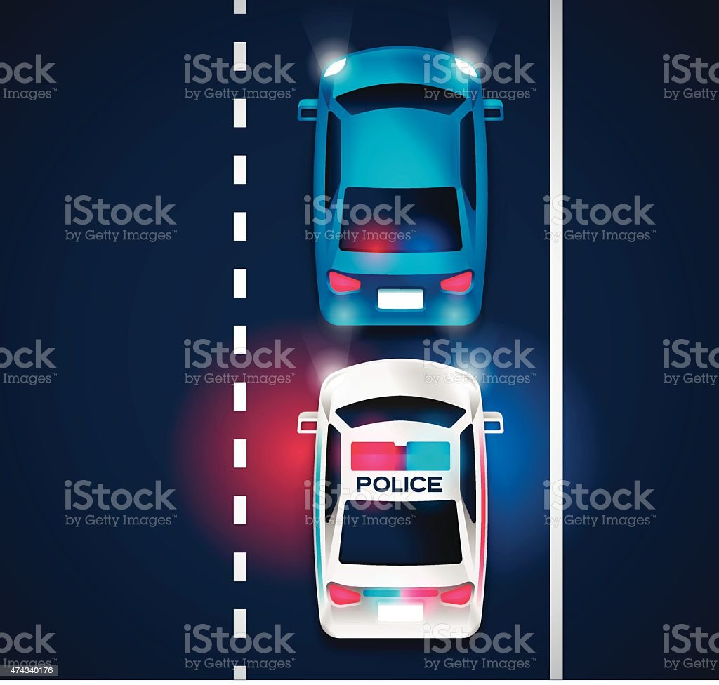 Police Traffic Violation vector art illustration
