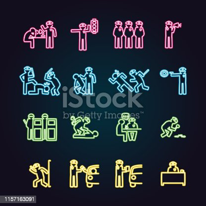 The vector files of police icon set.