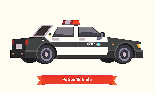 Royalty Free Police Car Chase Clip Art Vector Images