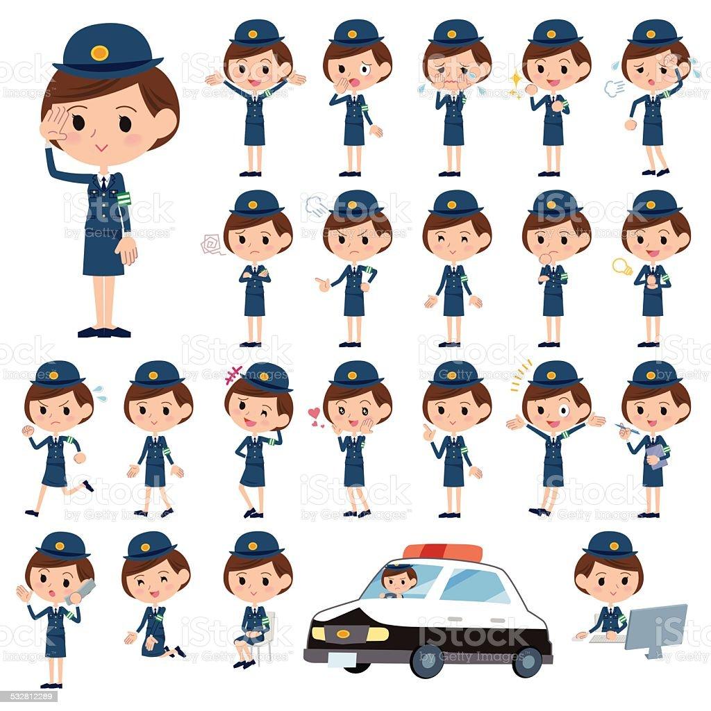 女性警官 – Vektorgrafik