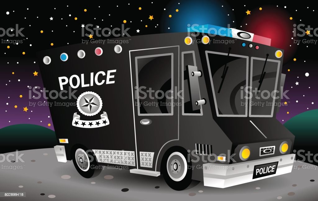 Police_Truck royalty-free policetruck stock vector art & more images of black color