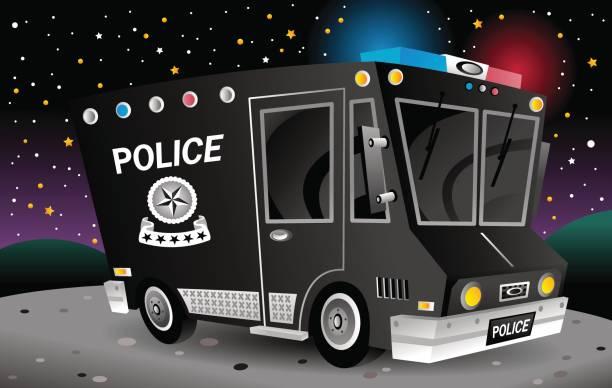 Police_Truck vector art illustration