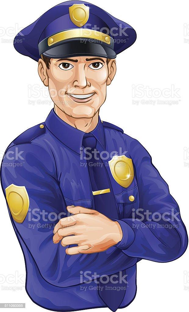 Polizisten Charakter – Vektorgrafik