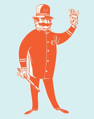 Policeman Gesturing to Stop