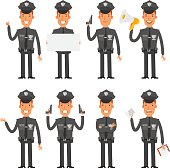 Policeman in different poses