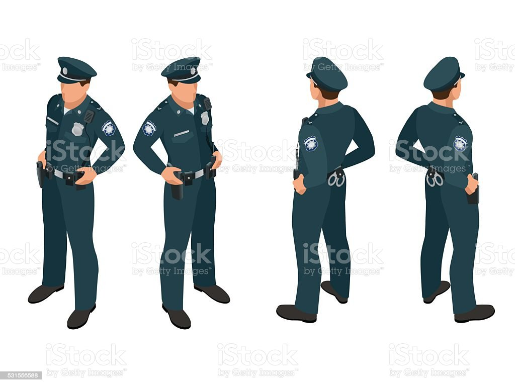 Policier en uniforme. - Illustration vectorielle