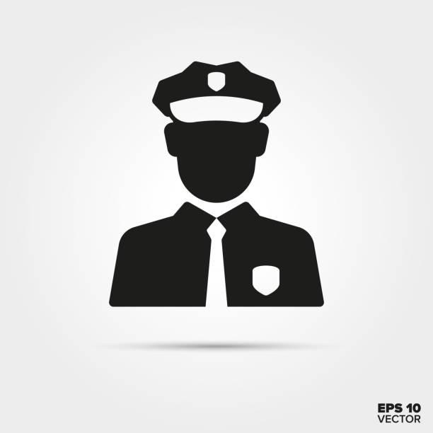 ikona wektora policjanta - policja stock illustrations