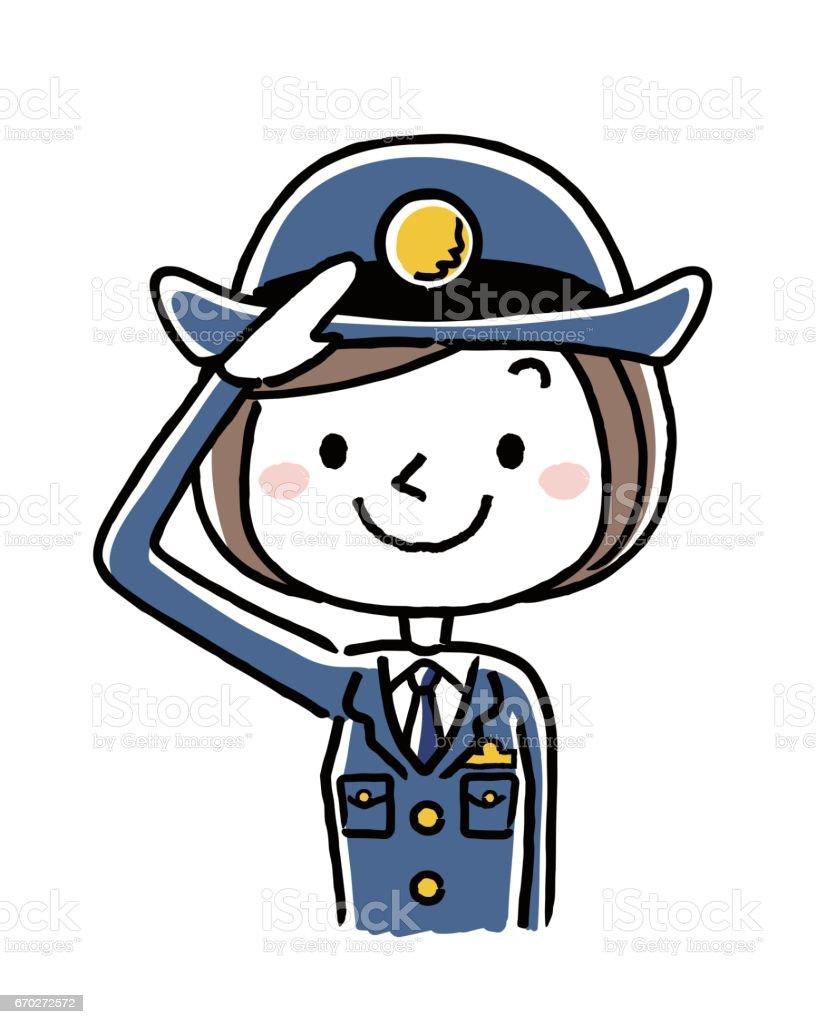 Ilustración de Mujer Policía y más banco de imágenes de Encuadre ...