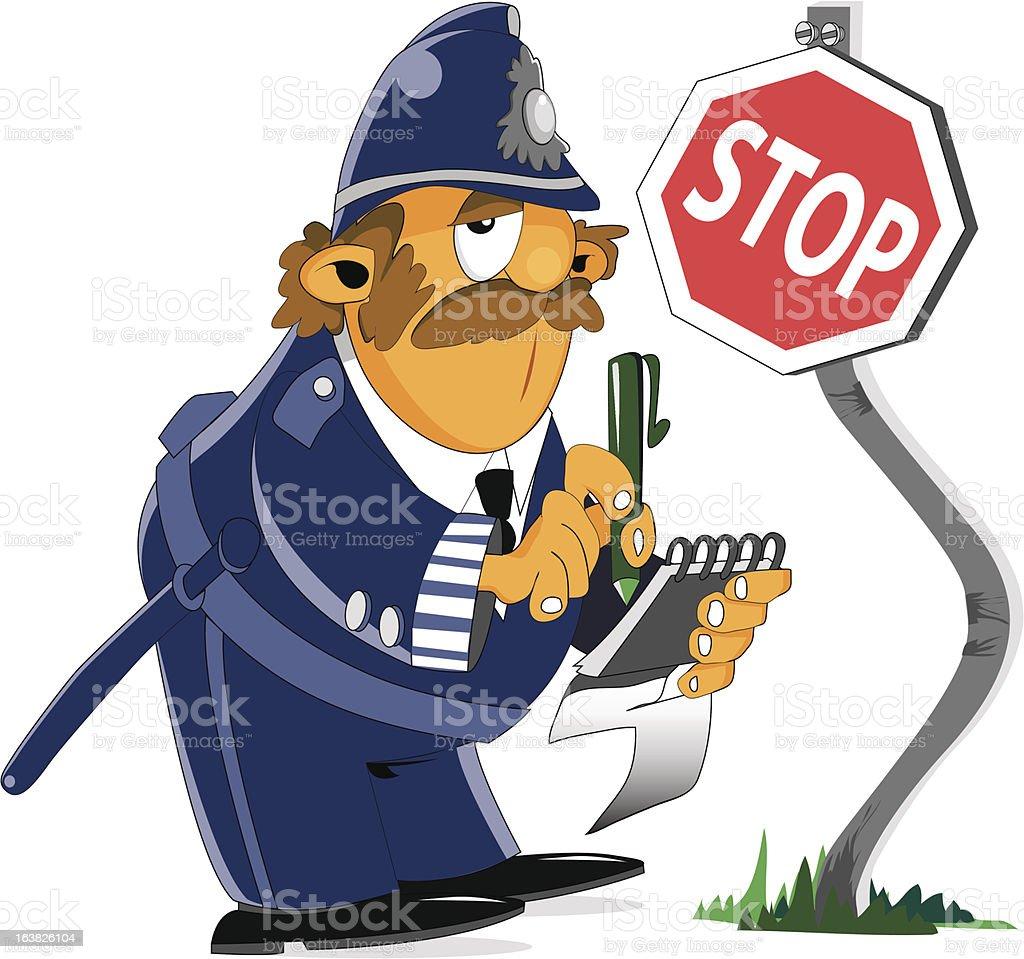 policia vector art illustration