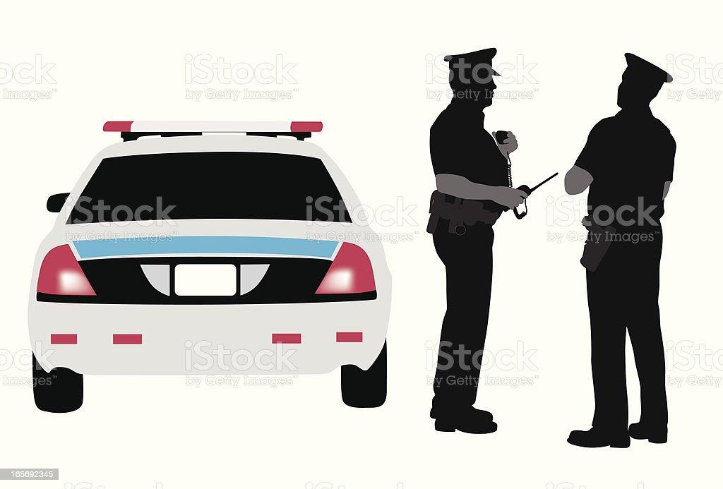 Policing Vector Silhouette vector art illustration