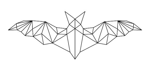 poligonal abstract bat