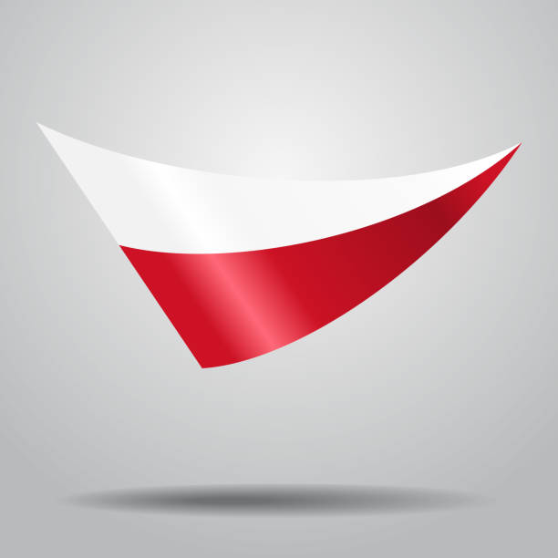 polish flag background. vector illustration. - polish flag stock illustrations, clip art, cartoons, & icons
