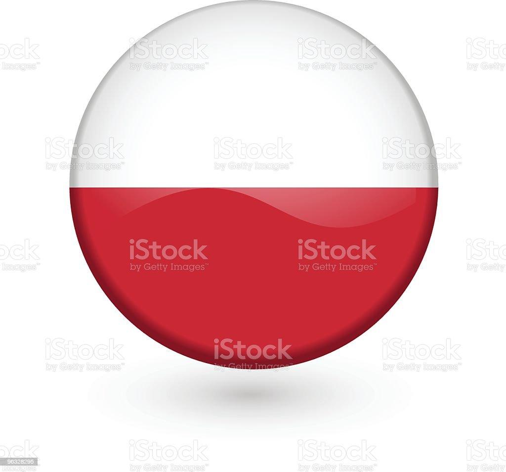 Polish flag vector button vector art illustration