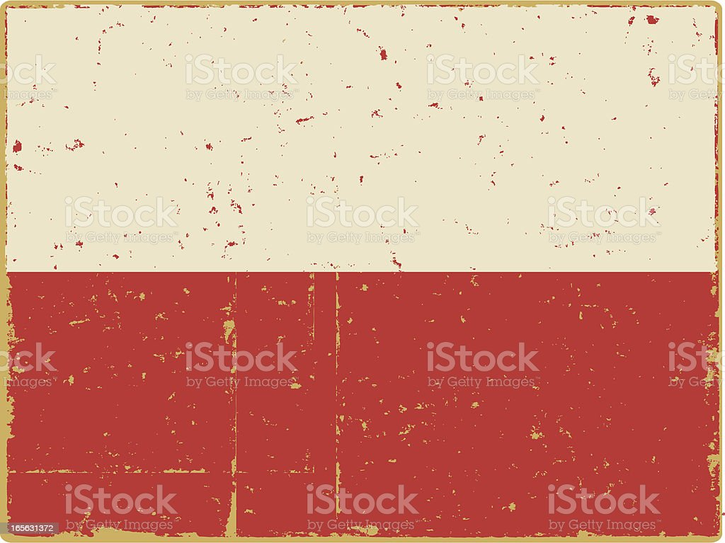 Polish Flag royalty-free stock vector art