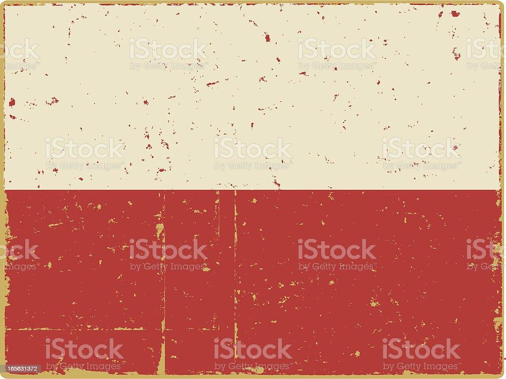 Bandera polaca - ilustración de arte vectorial
