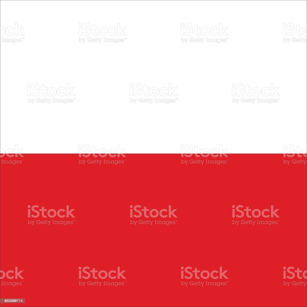 Polish flag vector art illustration