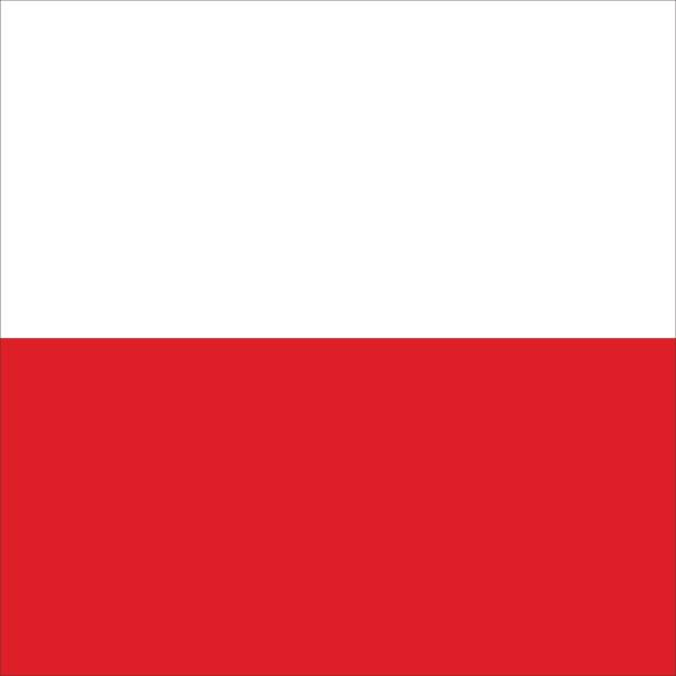 polish flag - polish flag stock illustrations, clip art, cartoons, & icons
