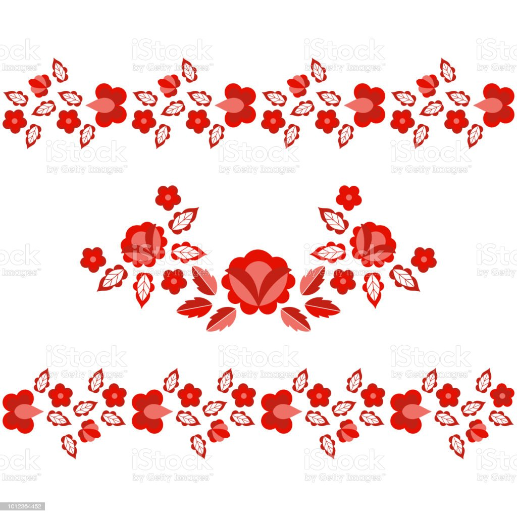 Polish Folk Pattern Vector Floral Ethnic Ornament Slavic Eastern ...
