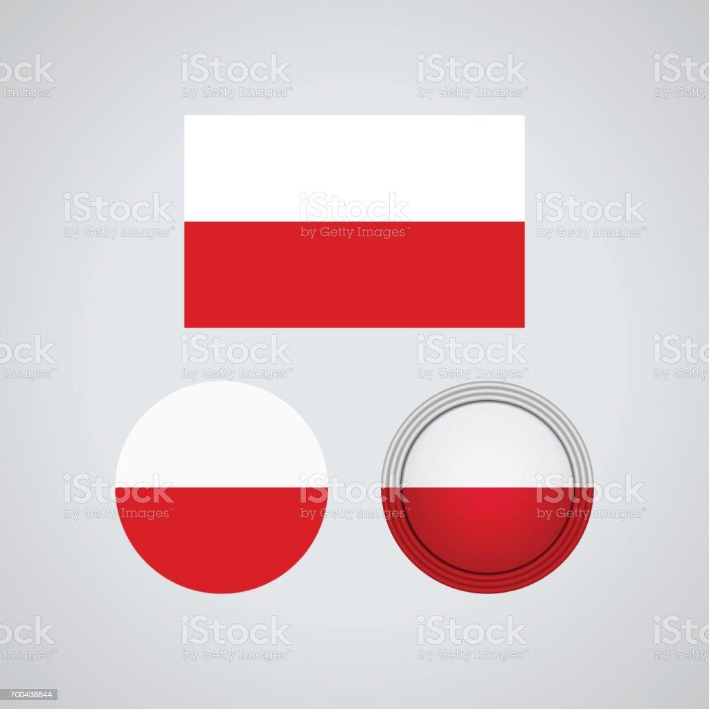Polish trio flags, vector illustration vector art illustration