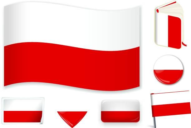 ilustraciones, imágenes clip art, dibujos animados e iconos de stock de polish_flag - bandera polaca
