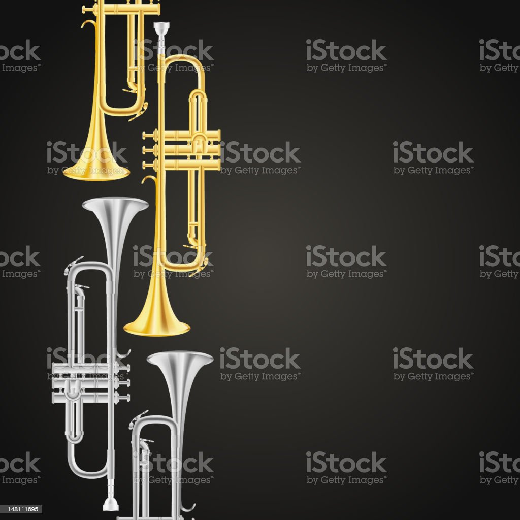 polished brass trumpet royalty-free polished brass trumpet stock vector art & more images of backgrounds