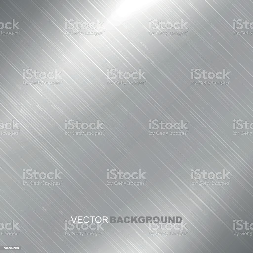 Polished metal texture background vector art illustration