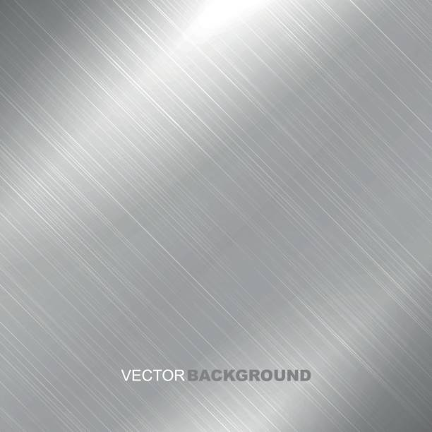 拋光金屬紋理背景向量藝術插圖