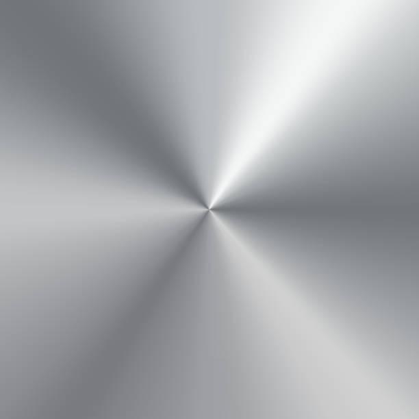 ilustrações, clipart, desenhos animados e ícones de metálico gradiente cônico de chapa polido de prata. fundo de textura. ilustração vetorial - segundo grau