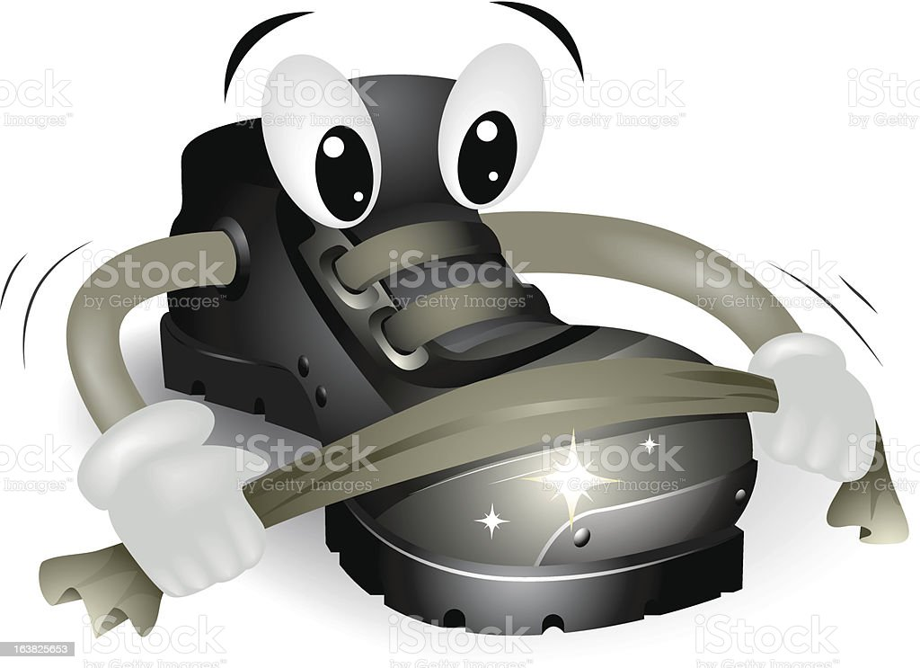 Polishing Shoe royalty-free stock vector art
