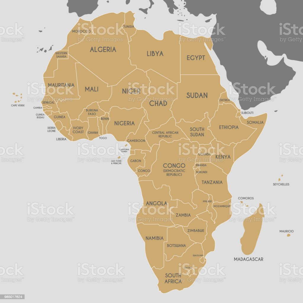 Political africa map vector illustration editable and clearly data information medium map planet earth world map political africa gumiabroncs Choice Image