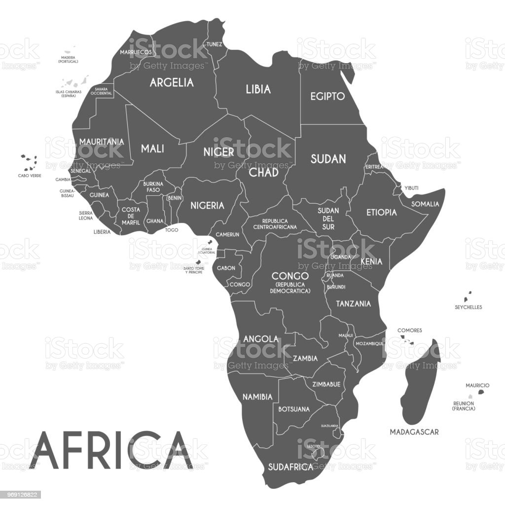 Africa Map Without Names