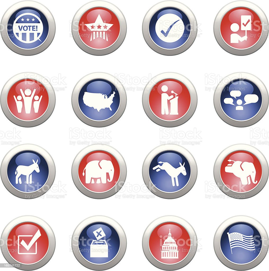Political Buttons royalty-free political buttons stock vector art & more images of check mark