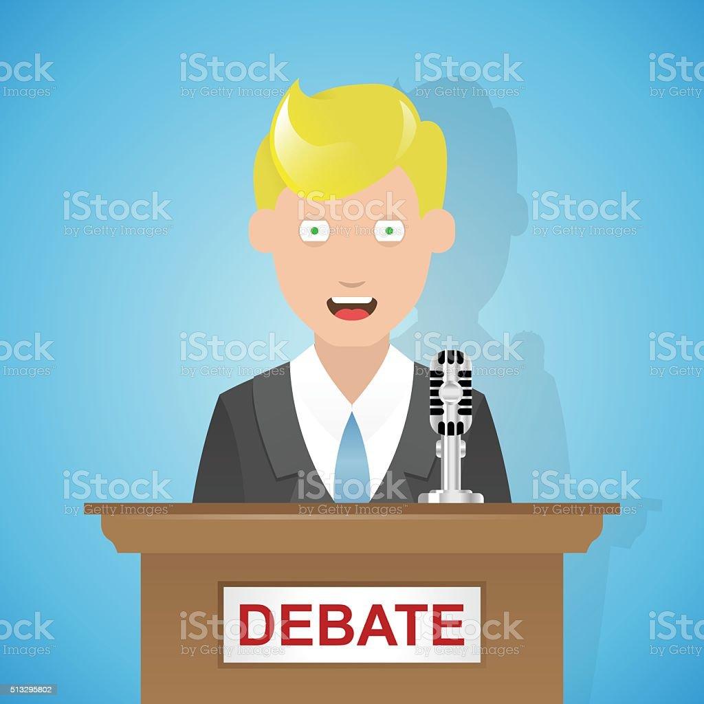 Ilustración De Debate Político Dibujos Animados Y Más Vectores