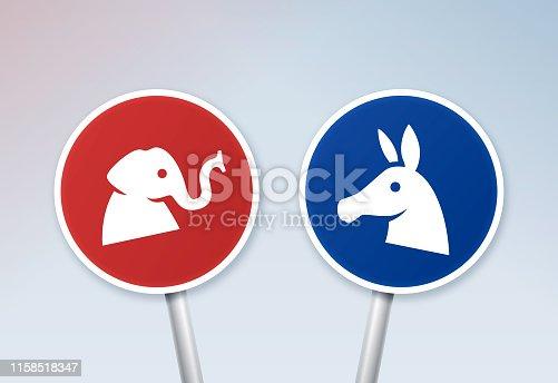 istock Political Debate Signs 1158518347