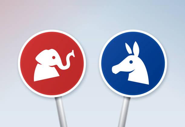 siyasi tartışma işaretleri - election stock illustrations